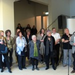 During the opening of the 6th International Artist's Book Triennial Vilnius 2012