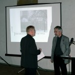 With moderator Professor Emeritus Walter Jule