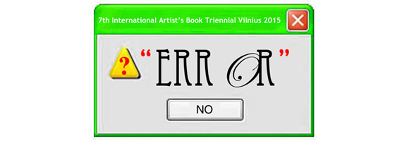 Artists Book - Error - Logo