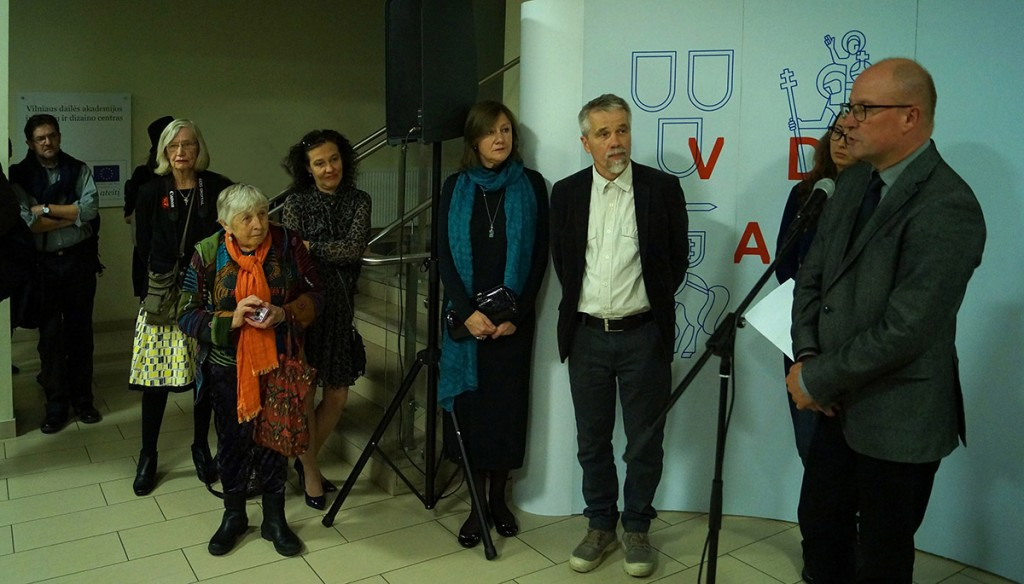 From the left: artist Evaldas Mikalauskis, Else Juhl Lundhus, Katriona Persson, Vaidilute Brazauskaite-L., Dalia Lopez Madrona, Kestutis Vasiliunas and Reactor Prof. Audrius Klimas