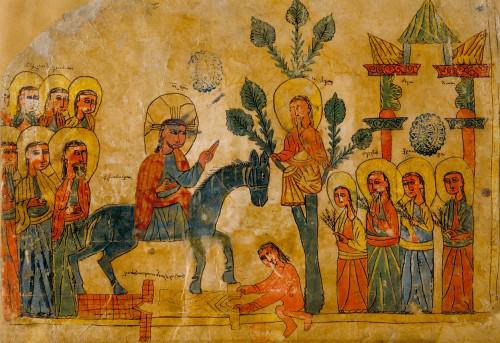 Armenian-manusript-Palm-Sunday