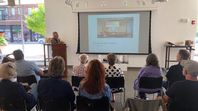 Lecture on artist's book in the Evanston Art Center
