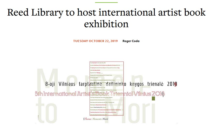 artists-book-exhibition-Reed-Library-2019
